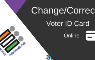 Voter ID Card में Change/Correction Online कैसे करें?