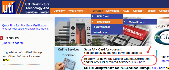 website for apply pancard online