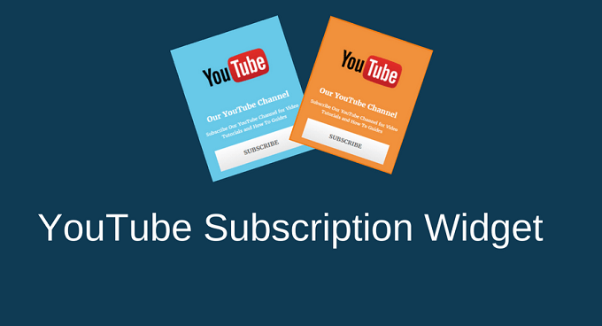 YouTube Subscription Widget For WordPress and Blogger