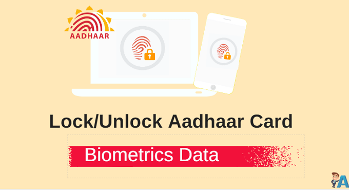 Lock/Unlock Aadhaar Card Biometric Data Online