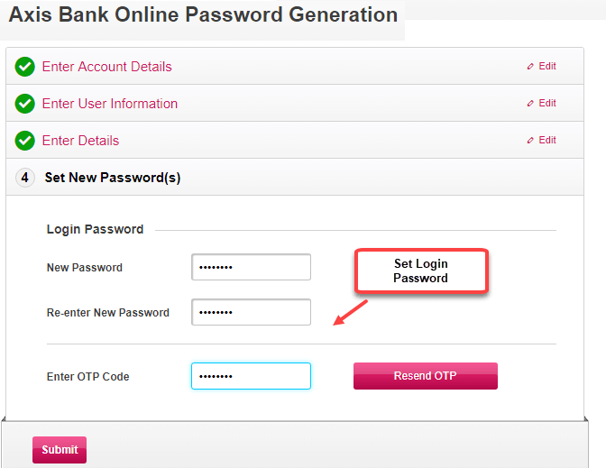 Axis bank internet banking activation