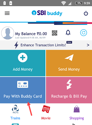 Generate SBI Buddy Card