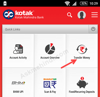 kotak 811 account deposit money