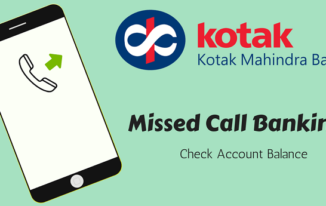 Missed Call देकर Kotak Bank Account Balance Check करें