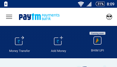 paytm saving account