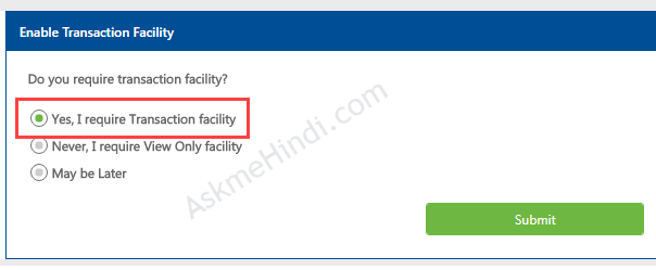 how to create internet banking in indian bank