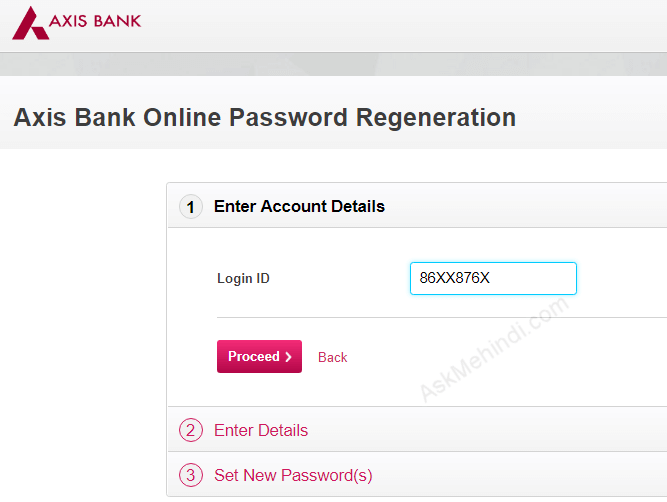 axis bank euro travel card online login