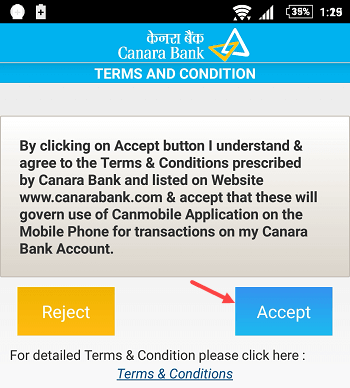 canara bank mobile banking application