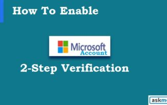Microsoft Account Me 2-Step Verification Enable Kare