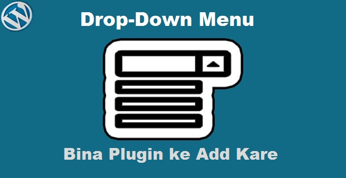 add drop down menu wordpress