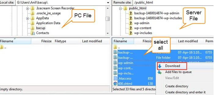 filezilla backup