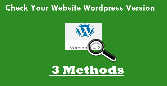 check wordpress version