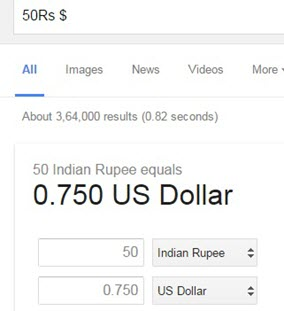 google currency convert