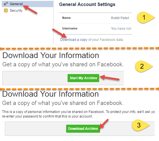 facebook download data
