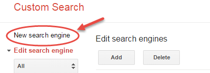 google custom search add