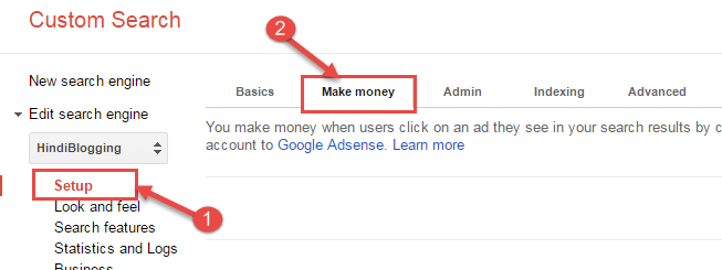 google custom search adsense