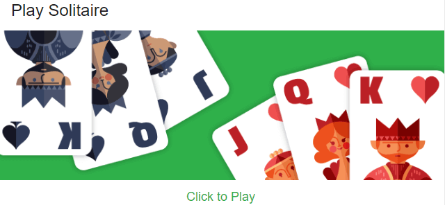 solitaire google search