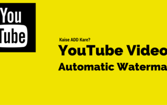 YouTube Video Me Automatic Brand logo Add Kare