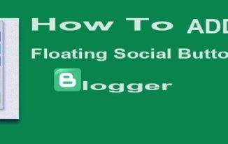 Blogger Me Floating Social Share Button ADD Kare