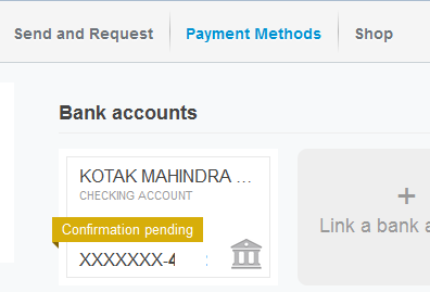 confirm bank account paypal