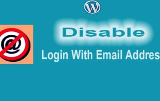 WordPress Me Login With Email Disable Kaise Kare