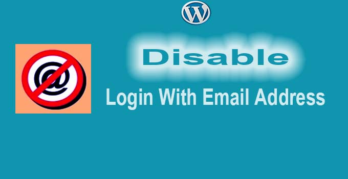 disable login with email