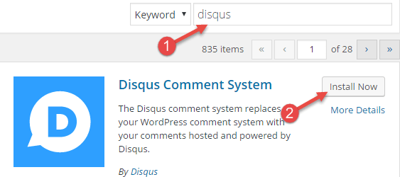 disqus plugin wordpress
