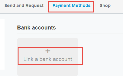link bank account paypal