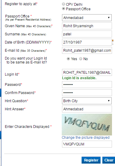 register passport portal