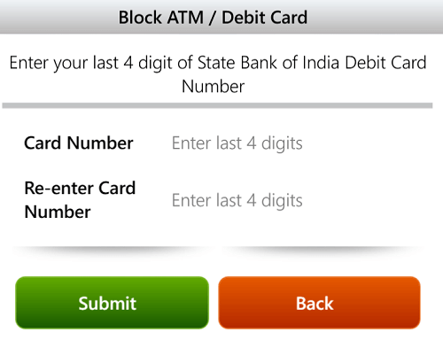 sbi anywhere block card