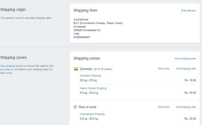 shipping details shopify