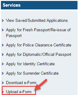 upload form passport