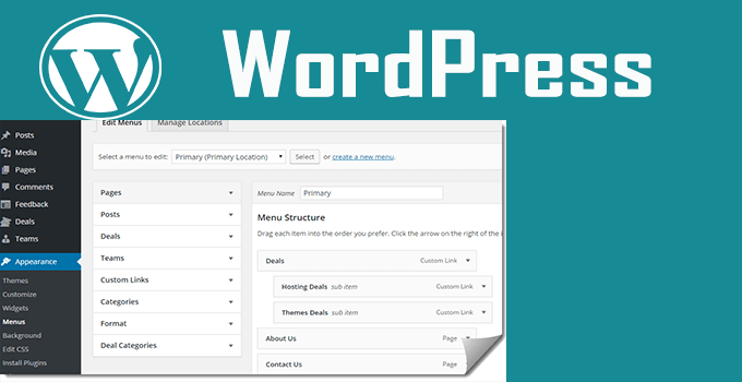 add menu wordpress