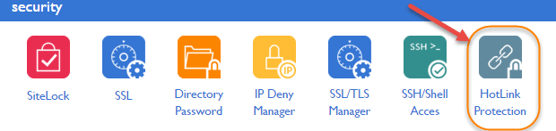 Cpanel hotlink protection