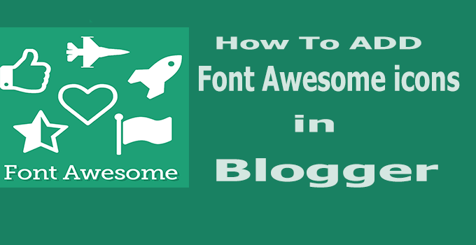 font awesome Blogger