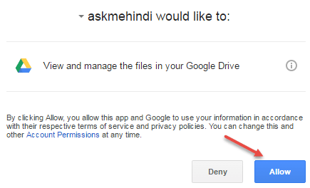 google drive authorize