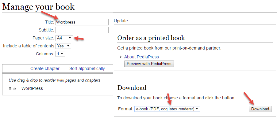 make book wikipedia