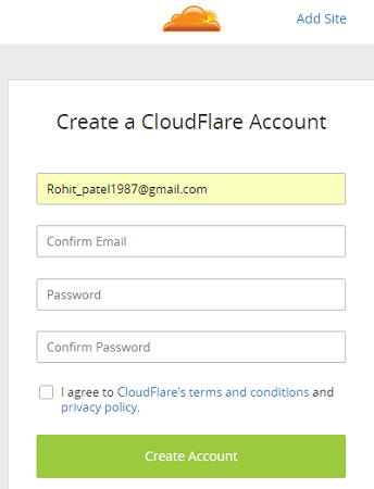 cloudflare signup