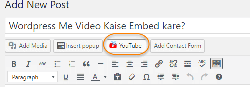 youtube embed shortcode wordpress