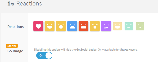 getsocial reaction button add