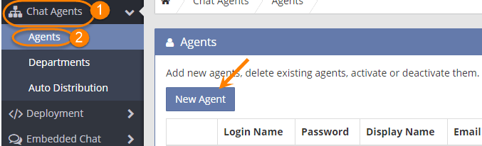 mylivechat add agent