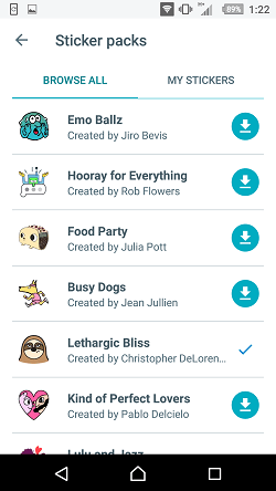 Google Allo stickers