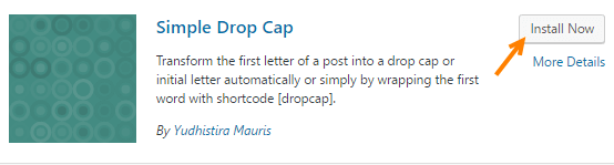 Simple Drop Cap plugin