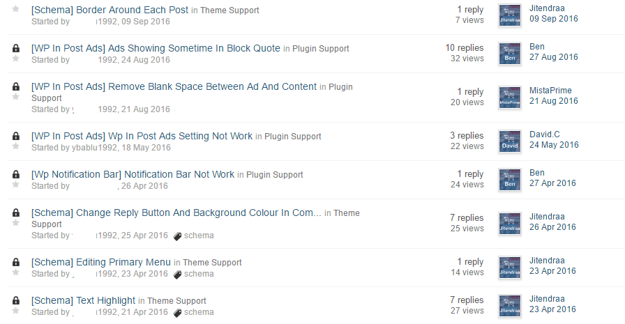 support forum mythemeshop
