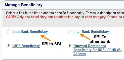 add beneficiary onlinesbi