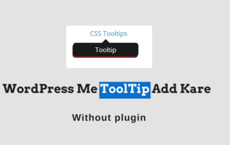 WordPress Post Me ToolTip Add Kare Without Plugin