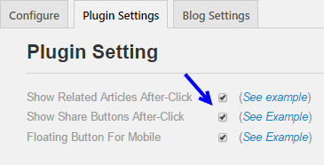 Myeffecto wordpress plugin settings