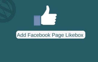 ADD Facebook Page LikeBox in WordPress