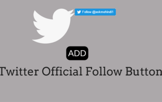 Twitter Official Follow Button Kaise Add kare Website Me