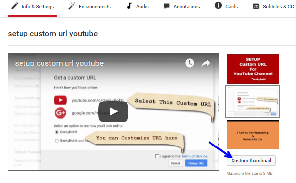 youtube add custom thumbnail